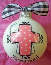 Baptism Christmas Ornament Sweet Little Giraffe Hand Painted And Personalized By Sarei