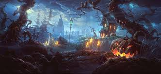 witch halloween background free cute halloween wallpaper desktop background long wallpapers
