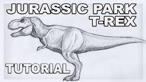 tutorial how to draw tyrannosaurus rex rexy t rex from