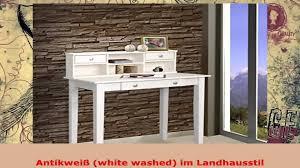 Kiefer Schreibtisch Sekretär Schreibtisch Weiß Mit Aufsatz Kiefer Massiv In