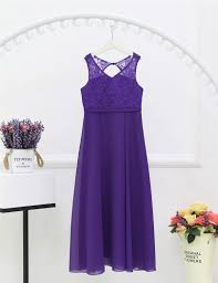 4 14y girls junior wedding guest dress for bridemaid party v neck