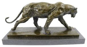 mountain lion statue bronze classic roaring lion and mountain lion sculpture by hey