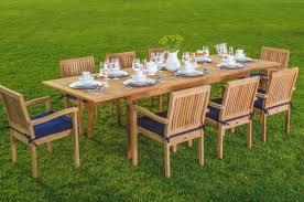 wholesaleteak 9 piece grade a teak outdoor dining set with 94