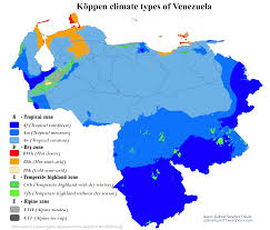 Venezuela Map Venezuela Map Of Köppen Climate Classification Maps Pinterest