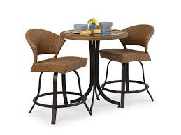 Rattan Dining Room Set Dining Room 3 Piece Dining Set With Drop Leaf Dining Table