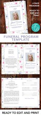 where to print funeral programs floral printable funeral program ready to edit print simply