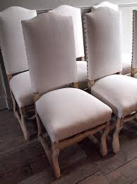 white upholstered dining chair homesfeed