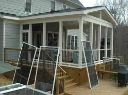 pictures of enclosed back porches