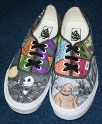 sneakers nightmare before pencil and in color