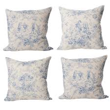 sold vintage french blue u0027toile de jouy u0027 set of 4 cushions at