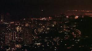 Honolulu City Lights Honolulu And Waikiki Beach Oahu Hawaii At Night Dark Sky With