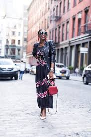 fall floral maxi dress and how to style it for the fall winter season