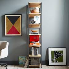 buy west elm industrial modular 43cm bookshelf john lewis