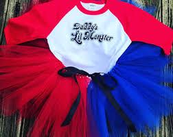 Harley Quinn Halloween Costume Kids Harley Quinn Costume Etsy