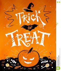 trick or treat halloween poster stock vector image 77294044