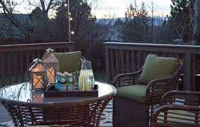 How To Decorate Decks And Patios Deck Decorating Ideas Fresh Paint And String Lights