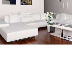 Modern White Sectional Sofa by Dreamfurniture Com Madrid Modern White Leather Sectional 2238