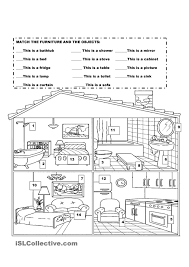 Esl Vocabulary Worksheets Furniture In The House Kindergarten Pinterest House English