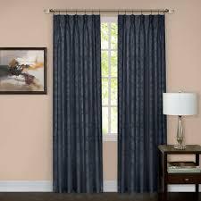 Navy Window Curtains Achim Navy Pinch Pleat Window Curtain Panel 34 In W X