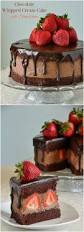 chocolate whipped cream cake with strawberries recipe cakes