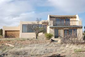 100 new mexico house wide angle shot of modern adobe home