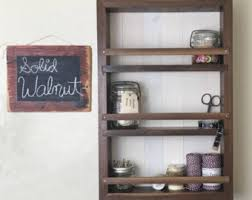 Wall Cabinet Spice Rack Spice Rack Kitchen Cabinet Mason Jar Storage Rustic Wall