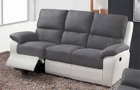 canap gris 3 places canap 3 places gris canapes relax berlin luba fonce pu blanc l