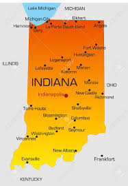Map Of Indiana And Illinois by Vector Color Map Of Indiana State Usa Royalty Free Cliparts