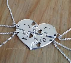 puzzle love necklace images 4 best friend puzzle necklace 4 piece puzzle necklace 4 etsy jpg