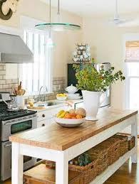 open shelving hanging bar for pans kitchen counter island for