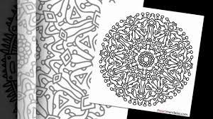 mandalas free coloring pages video free mandala designs
