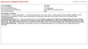 block cover letter resume cv cover letter