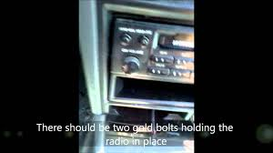 how to remove the radio of a 1991 honda accord youtube