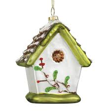 glass birdhouse ornament ornament kimball