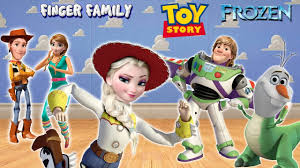frozen finger family toy story woody jessie elsa kristoff