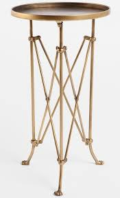 Tripod Side Table Charming Brass Side Table With Cast Tripod Side Table West Elm