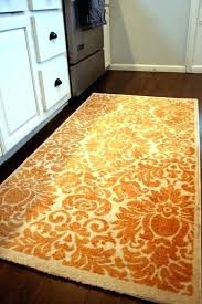 Damask Kitchen Rug Burnt Orange Rug Maslinovoulje Me
