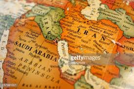 middle east map medina a photograph of a map of the middle east stock photo getty images