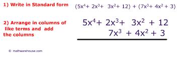 how to add polynomials and subtract polynomials examples