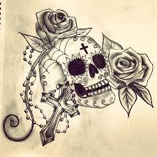 skulls roses and crosses by annasophiaeloise on deviantart