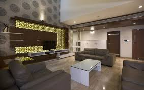 living room brown wooden lcd tv storage cream wall glass windows