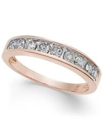 wedding rings in diamond channel ring in 14k gold 1 2 ct t w rings jewelry