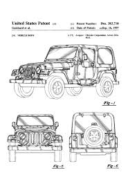 jeep wrangler front drawing jeep wrangler patent patent print wall decor automobile decor