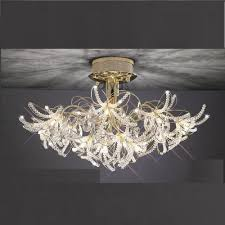 four lights uk kenzo il il30890 gold crystal twenty four light ceiling light