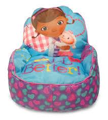 amazon com disney doc mcstuffins toddler bean bag sofa chair