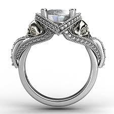 skull engagement rings evbea skull engagement ring unique bling cocktail aphrodite white