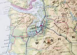 Seattle Map by Map Of Seattle Stock Photo Picture And Royalty Free Image Image