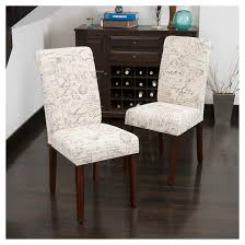 French Linen Armchair French Handwriting Linen Dining Chair Beige Set Of 2