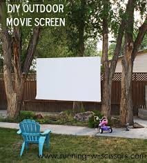 backyard outdoor movie screen outdoor furniture design and ideas