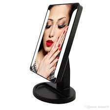 portable makeup vanity with lights usb operate led make up mirror cosmetic desktop portable compact